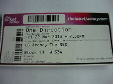 ONE DIRECTION - 2013 CONCERT TICKET
