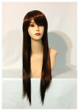 Stylish Long Straight Wigs, Party, Cosplay, Fancy Dress, Copper Brown Colour