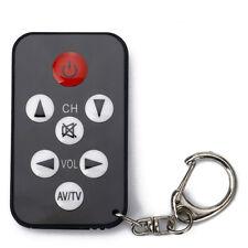 Mini Universal Infrared IR TV Set Remote Control Keychain Key Ring 7 Keys Blk*#