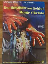 Horror Plakat DAS GEHEIMNIS VON SCHLOß MONTE CHRISTO