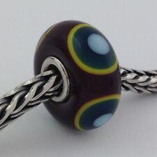 Authentic Trollbeads Murano Green Eye Bead *Retired* Charm 61327, New