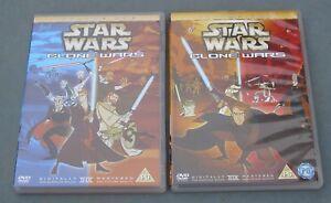 STAR WARS CLONE WARS VOLUME 1 + 2 ANIMATED (GENNDY TARTAKOVSKY) (NEW CASES)