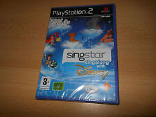 SINGSTAR  DISNEY BRAND NEW SEALED PS2 playstation 2 uk pal version