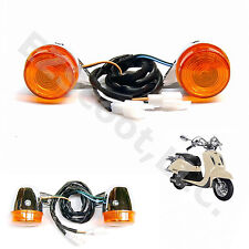 2X TURN SIGNAL BLINKER LIGHT FRONT GY6 SCOOTER RETRO VINTAGE STYLE LANCE ZNEN