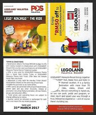 MALAYSIA 2016 GARDEN FLOWER DEFINITIVE STAMP BOOKLET - LEGOLAND