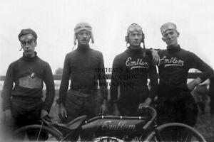 Emblem Angola NY works racing team 1911 Chicago Maywood Boardtrack photo