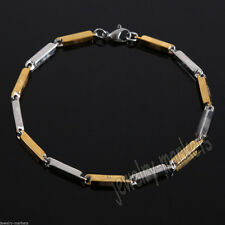 Mens Women Gold Silver Stainless Steel Bracelet Bangle Wristband Cuff Chain Link