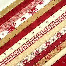 Midwinter Reds tissu Scrap Pack/Quilting Patchwork French General MODA