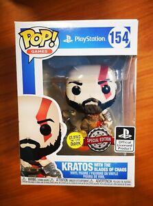 FUNKO POP! #154 Kratos - God of War PlayStation Special Edition GITD - IN STOCK