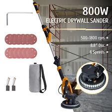 Preenex Electric Drywall Sander W Handle Vacuum Led Bar 12 Sand Discs 6 Speeds