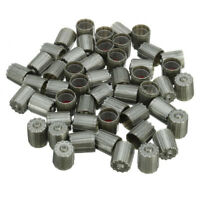 50pcs Plastic Gray TPMS Tire Tyre Valve Stem Caps Cover Kit Car Truck Motorcycle