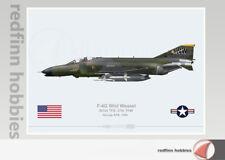 Warhead Illustrated F-4G Wild Weasel 561st TFS, 37th TFW Aircraft Print
