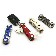 Black Key Organiser Organizer Keys Holder Compact Tool Pocket Folding Keyring