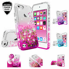 iPod Touch 5/6th Generation Glitter Cute Phone Case Girls with Kickstand Pink