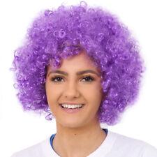 ADULTS PURPLE AFRO WIG 1960'S 1970'S DISCO HIPPY FANCY DRESS CLOWN FUNKY HAIR