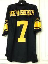Pittsburgh Steelers Ben Roethlisberger #7 75th Reebok Black Jersey Medium - NWT