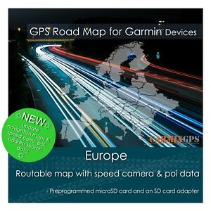 2020 Europe City Road Maps - microSD-SD Card for Garmin GPS Navigator
