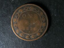 1 cent 1876H Canada one penny copper coin large Queen Victoria c ¢ G-6