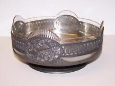Original ART NOUVEAU GLASS & METAL BOWL Liberty Style CRICA 1900