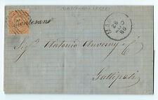 FRANCOBOLLI 1886 REGNO 20 CENTESIMI ANNULLATO CON NUMERALE E CORSIVO D/4105