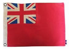More details for red ensign fully sewn vintage-look flag 49cm x 33cm