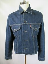 F3763 VTG Levi's Men's Denim Jean Trucker Jacket Size L