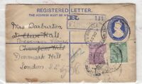 India 1922 Registered/Redirected/Uprated Cover To London X9027