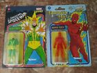 Marvel Legends 3.75 Retro Human Torch & Electro- SEALED NEW **FLASH AUCTION* GO!