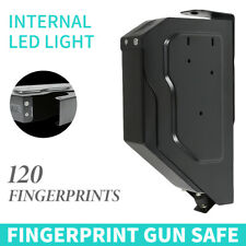 Biometric Fingerprint Handgun Safe High Security Lock Vault Hand Gun Pistol Box