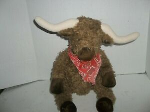 "ganz heritage collection longhorn harry cow steer bison plush 16"" tall"