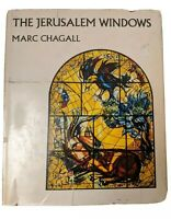 THE JERUSALEM WINDOWS by Marc Chagall Text by LEYMARIE 1967 1st Revised Ed. HCDJ