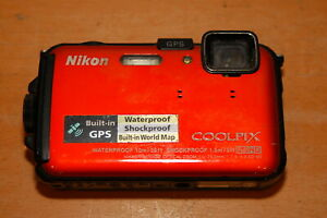 Nikon Coolpix AW100 Water Damaged Camera Sold for Parts or Repairs