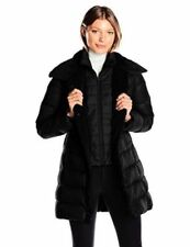 Kenneth Cole Faux-Fur-Trim Layered Faux Shearling Collar Down Puffer Coat S 3765