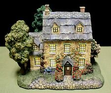 "Thomas Kinkade 1999 ""Stonebrooke Inn"" Lamplight Hawthorne Village Light-Up House"