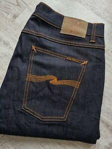 Nudie Lean Dean fine mens Organic cotton jeans,NWT size W36 L32 Worldwide