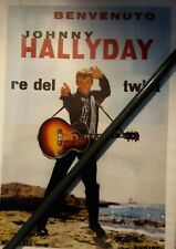 """JOHNNY HALLYDAY """" RE DEL TWIST"""" AFFICHE ITALIENNE 1962 DISQUES PHILIPS ITALIE"""