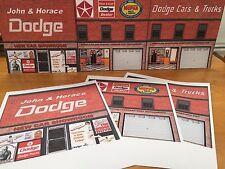 "PAPERCRAFT ""DODGE"" Background Scenery 1968-1972 Dodge Dealer Featuring Dodge Ads"