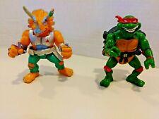 New ListingTmnt 1991 Ninja Turtles City Sewer Shell Raphael & Triceraton Playmates Toys