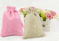 25 sacchetti Juta ROSA CANAPA bomboniere confetti compleanni matrimonio REGALI