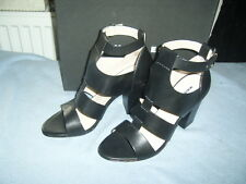 WHISTLES BLACK LEATHER GLADIATOR SANDALS SIZE 7 EUR 40 cost £185