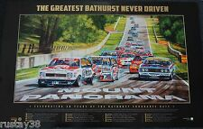 BATHURST 50TH YEAR GREATEST RACE NEVER DRIVEN FRAMED PRINT HOLDEN FORD BROCK
