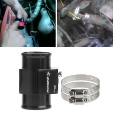 38mm Water Temp Temperature Joint Pipe Sensor Gauge Radiator Hose Adapter Black