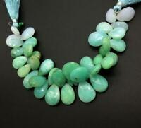 Peruvian Blue Opal 8 '' Faceted Pear 1 Strand Natural Gemstone Necklace Handmade