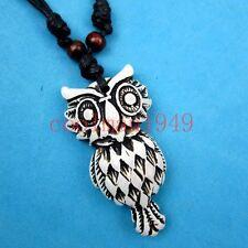 Men's tribal owl Pendant Necklace RH020