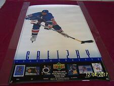 """WAYNE GRETZKY """" Legend Forever """" 1999 Upper Deck  39"""" x 25"""" Hockey Poster"""