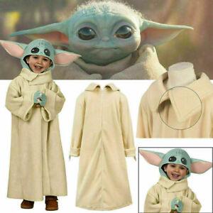Baby Yoda Mandalorian Star War Kids Cosplay Costume Halloween Outfit Child Gifts