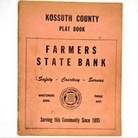 1950s Kussoth County, Iowa Farm Directory Townships Plat Booklet Algona Vtg 1J