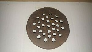 "Vintage 4 1/4"" 13/16"" Thick Cat Iron  Drain Strainer Used From Locker Room HTF"