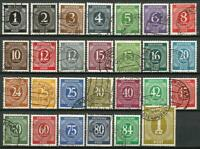 Germany Allied Occupation UK USA Soviet 1946 used Numerals 27v Mi 911/37 899/925
