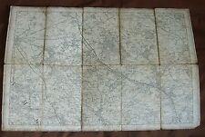 1900s artillería Bedford Buckingham disecado Lino Mapa Hoja 238 Edward Stanford